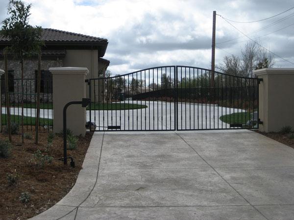 Wrought iron gates carlsbad driveway