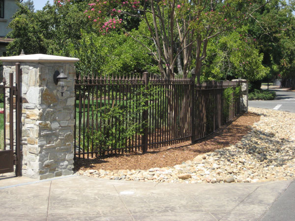 Wrought Iron Yard Fence Carlsbad