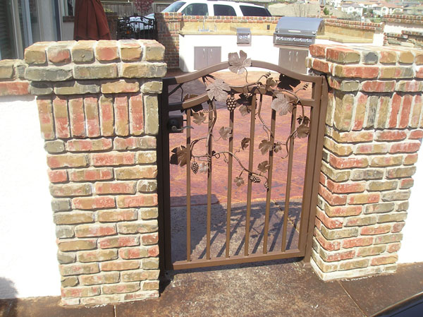 Wrought Iron Courtyard Gate Carlsbad
