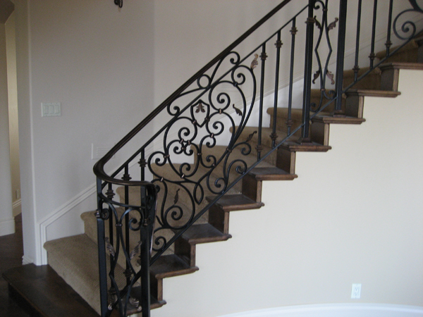 Interior Iron Stair Railings Carlsbad