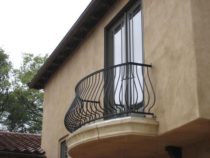 Wrought iron railings carlsbad iron handrail iron railings for Wrought iron balcony railings exterior
