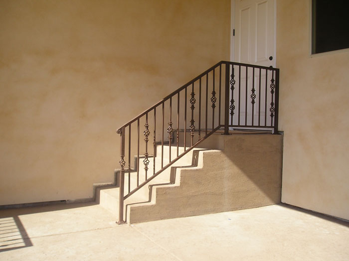 Wrought iron railings carlsbad iron handrail iron railings for Iron stair railing
